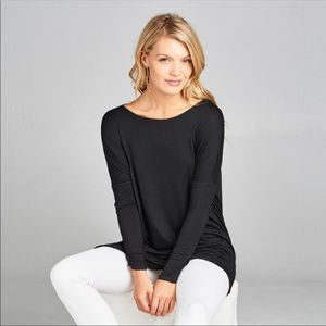 ❤️ JUST ARRIVED! Black Essential Tunic Top